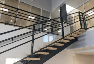 Photo - Aluminium Balustrades with Rails and Glazing Infill