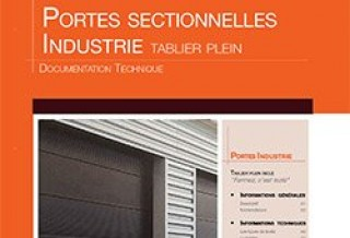 Photo - Portes sectionnelles Industrie tablier plein - Documentation technique