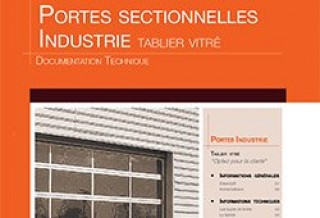 Photo - Portes Sectionnelles Industrie tablier vitré - Documentation technique